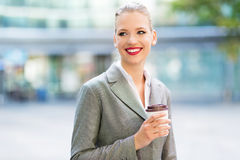 Young businesswoman outdoors Royalty Free Stock Photography