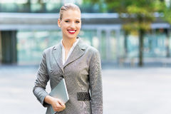 Young businesswoman outdoors Stock Photo