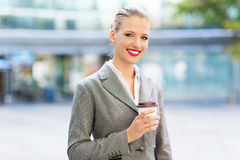 Young businesswoman outdoors Stock Photography