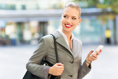 Young businesswoman outdoors Royalty Free Stock Photo
