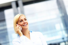 Young businesswoman outside modern building Stock Photography
