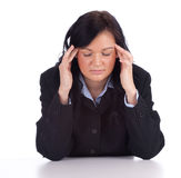 Young businesswoman with pain, headache Royalty Free Stock Photo