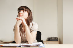 Young businesswoman with papers Stock Photography