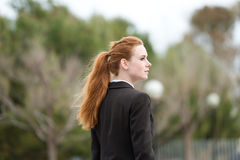 Young Businesswoman In Park Stock Image