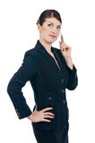 Young businesswoman with a pen Stock Image