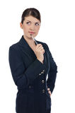 Young businesswoman with a pen royalty free stock photo