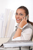 Young businesswoman on the phone Royalty Free Stock Images