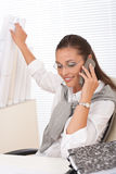 Young businesswoman on the phone Royalty Free Stock Photos