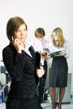 Young businesswoman on the phone. Royalty Free Stock Image