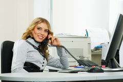 Young businesswoman on the phone. Stock Photography