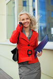 Young businesswoman on the phone. Stock Photo