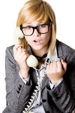 Young businesswoman with phone Royalty Free Stock Image