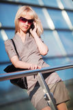 Young fashion woman calling on the cell phone Royalty Free Stock Photo
