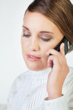 Young businesswoman with phone Royalty Free Stock Photo