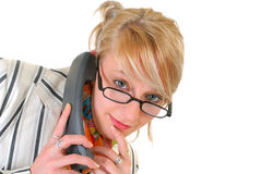 Young businesswoman on phone Royalty Free Stock Image