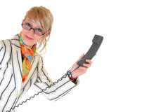Young businesswoman on phone Stock Photo