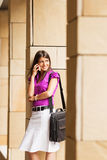 Young businesswoman on the phone royalty free stock image