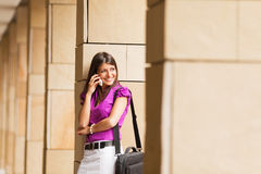 Young businesswoman on the phone Royalty Free Stock Photo