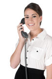 Young businesswoman on the phone, isolated Stock Photography