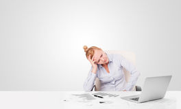 Young businesswoman with plain white copy space Stock Photography
