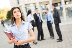 Young Businesswoman With Planner Stock Photography