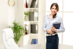 Young Businesswoman With Planner Royalty Free Stock Image