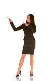 Young businesswoman pointing Stock Image