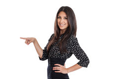 Young Businesswoman Pointing Left Royalty Free Stock Photo