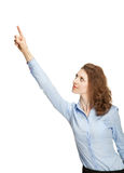 Young businesswoman pointing at something Royalty Free Stock Photography