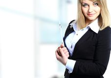 Young businesswoman portrait in office Stock Images