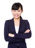 Young Businesswoman portrait. On white background Royalty Free Stock Photo