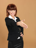 Young businesswoman preparing for hand shake Royalty Free Stock Photography