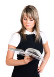 Young businesswoman reading book Royalty Free Stock Image