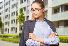 Young businesswoman (real estate agent) Stock Photos