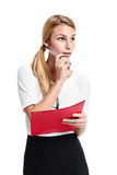 Young Businesswoman with a Red Folder Stock Photography