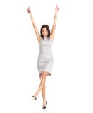 Young businesswoman rejoicing success Royalty Free Stock Images