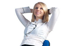 Young businesswoman relaxing Stock Photos