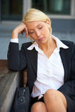 Young Businesswoman Resting Stock Photography