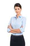 Young Businesswoman Satisfied Stock Image