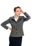 Young businesswoman shoked expression Stock Photo