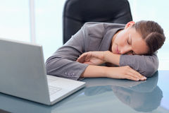 Young businesswoman sleeping Stock Image