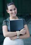 Young businesswoman smiling Royalty Free Stock Photos
