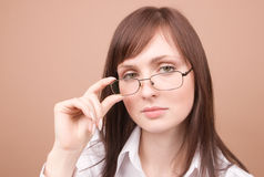 Young businesswoman smiling Royalty Free Stock Images