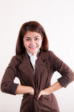 Young businesswoman smiling Royalty Free Stock Image