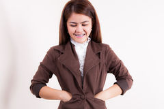 Young businesswoman smiling Stock Photos