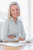Young businesswoman smiling at camera Stock Photography