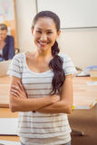 Young businesswoman smiling at the camera Royalty Free Stock Image
