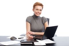 Young businesswoman smiling happy Stock Photography