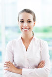 Young businesswoman smiling Stock Photo
