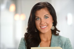 Young Businesswoman Smiling Royalty Free Stock Photography